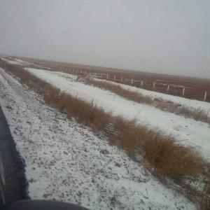 La circulación vía terrestre ha sido suspendida en varias partes de Sonora debido a las recientes nevadas. Foto: Notimex
