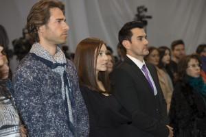 """Angelique Boyer, Sebastián Rulli y David Zepeda encabezan el reparto de """"Frente al Mismo Rostro"""". Foto: Cortesía de Televisa"""