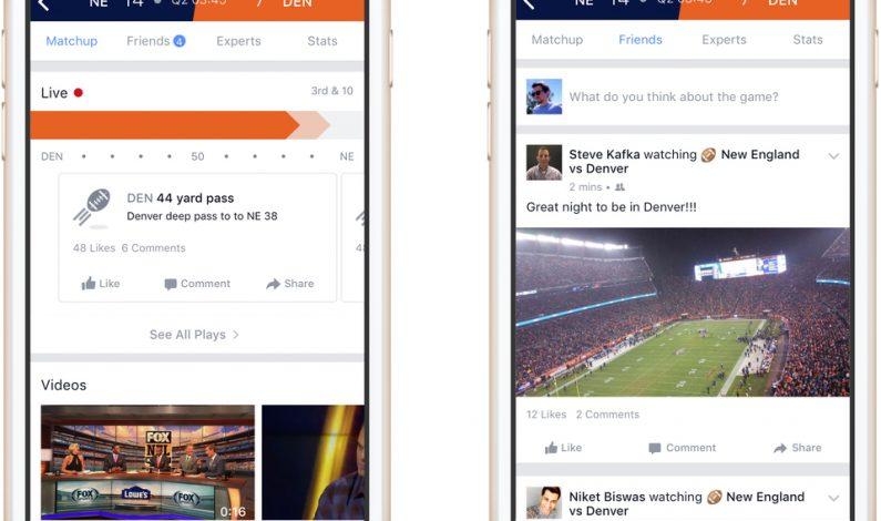 Facebook lanzará producto deportivo durante juegos de NFL