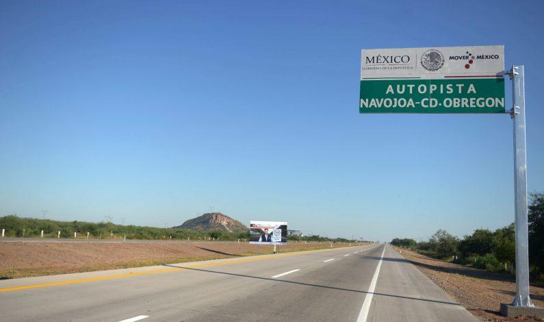 Carretera federal de Sonora reporta tránsito fluido de vehículos