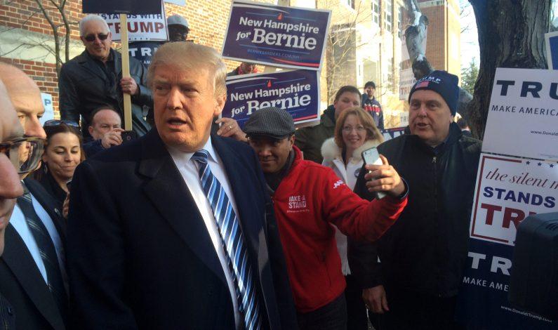 Trump y Sanders ganan en New Hampshire
