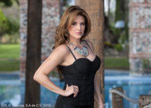 Alicia Machado, feliz Reina del Mariachi 2016. Foto: Cortesía de Televisa