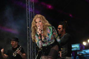 Gloria Trevi ofreció un concierto gratuito en el Carnaval de Mérida 2016. Foto: Cortesía