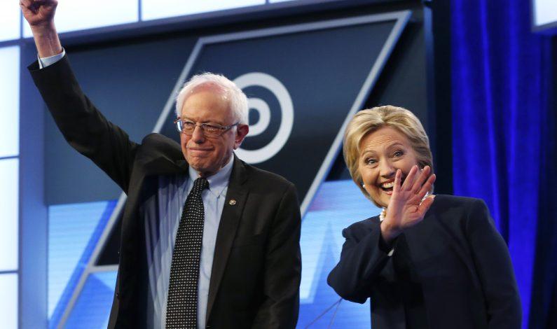 Clinton y Sanders compiten en un debate por el voto hispano