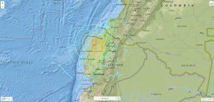 60416219. Dallas, 16 Abr 2016 (Notimex-Cortesía USGS).- El fuerte sismo que se registró esta tarde-noche en Ecuador tuvo una intensidad de 7.8 grados Richter, informó el Servicio Geológico de Estados Unidos (USGS). NOTIMEX/IMAGEN/SERVICIO GEOLÓGICO DE ESTADOS UNIDOS (USGS)/COR/DIS/