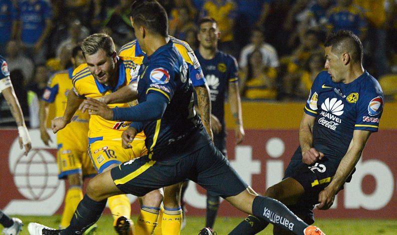 "Vence América 2-0 a Tigres en ida de final de la ""Concachampions"""