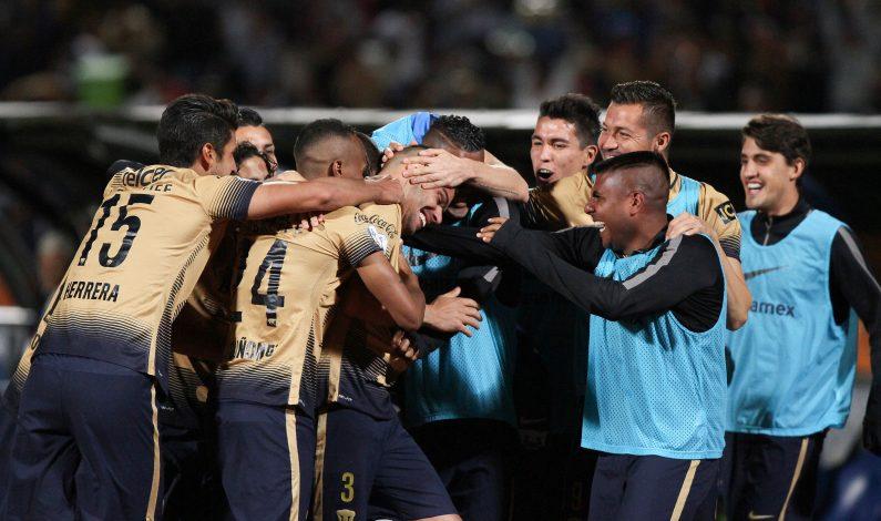 Pumas golea 4-1 a Olimpia y avanza en Libertadores