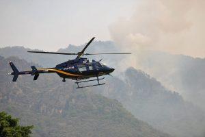 60407154. México, 7 Abr 2016 (Notimex-Cortesía).- En entrevista con Notimex, el coordinador Nacional de Protección Civil de la Secretaría de Gobernación señalo que el incendio forestal en Tepoztlán, Morelos, está controlado 90 por ciento y no pone en riesgo a la población ni afecta al Valle de México, porque el humo que genera corre hacia la zona baja de ese estado. NOTIMEX/FOTO/CORTESÍA/DIS/