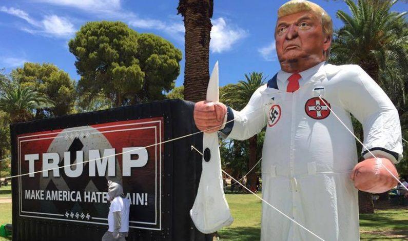 Protestas y controversia en visita de Trump a Arizona