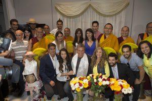 Al término del evento, Pedro Damián agradeció a todos su presencia en la ceremonia budista. Foto Cortesía de Televisa.jpg