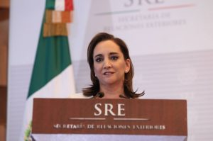 Claudia Ruiz Massieu, secretaria de Relaciones Exteriores de México. Foto: Archivo
