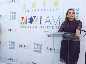 """60719081. San Francisco, 19 Jul 2016 (Notimex- Especial).- La canciller Claudia Ruiz Massieu inauguró la tercera edición del festival multidisciplinario """"Mex I Am"""" en la ciudad de San Francisco, California, como parte de su gira de trabajo por ese estado. NOTIMEX/FOTO/ESPECIAL/COR/POL/"""