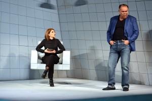 """la obra teatral """"I.D.I.O.T.A."""" que durante 12 semanas interpretarán Itatí Cantoral y Jesús Ochoa"""