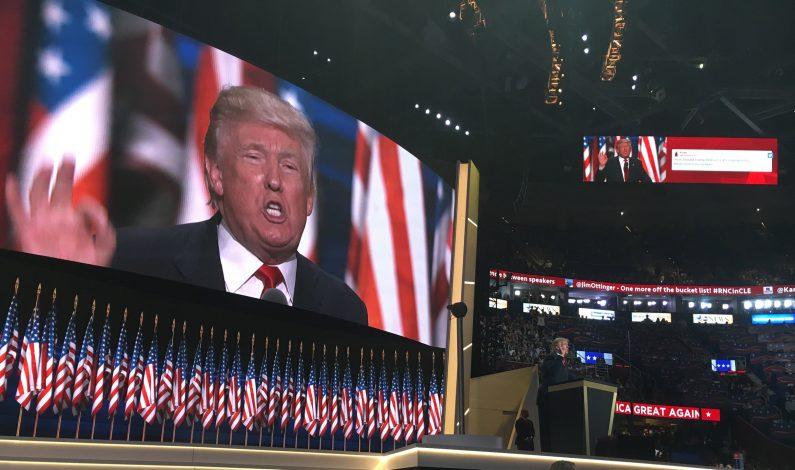 Donald Trump asume candidatura y reitera construcción de muro