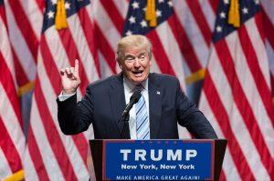 60719156. Cleveland, 19 Jul. 2016 (Notimex- Xinhua/Li Muzi).- Donald Trump se convirtió hoy de manera oficial en el candidato del Partido Republicano a la Presidencia de Estados Unidos, al obtener el número suficiente de delegados en la Convención Nacional de su partido. NOTIMEX/FOTO/XINHUA/LI MUZI/COR/POL/