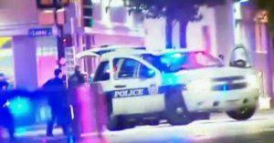los agentes fueron blanco de disparos de origen desconocido, a dos calles de la céntrica Plaza Dealey