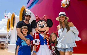 William vacaciona al lado de su familia, a bordo del Disney Dream en un crucero por Las Bahamas. Foto Cortesía Disney Cruise Line Fotos:Matt Stroshane
